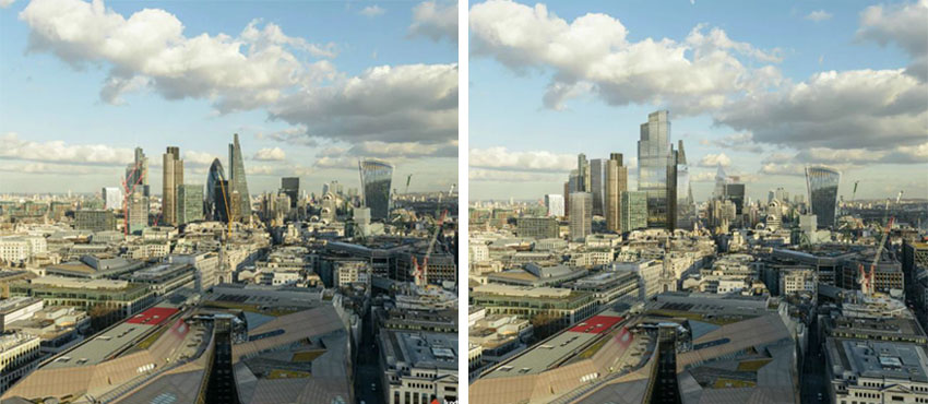 iconos del skyline de Londres: La City antes y despues