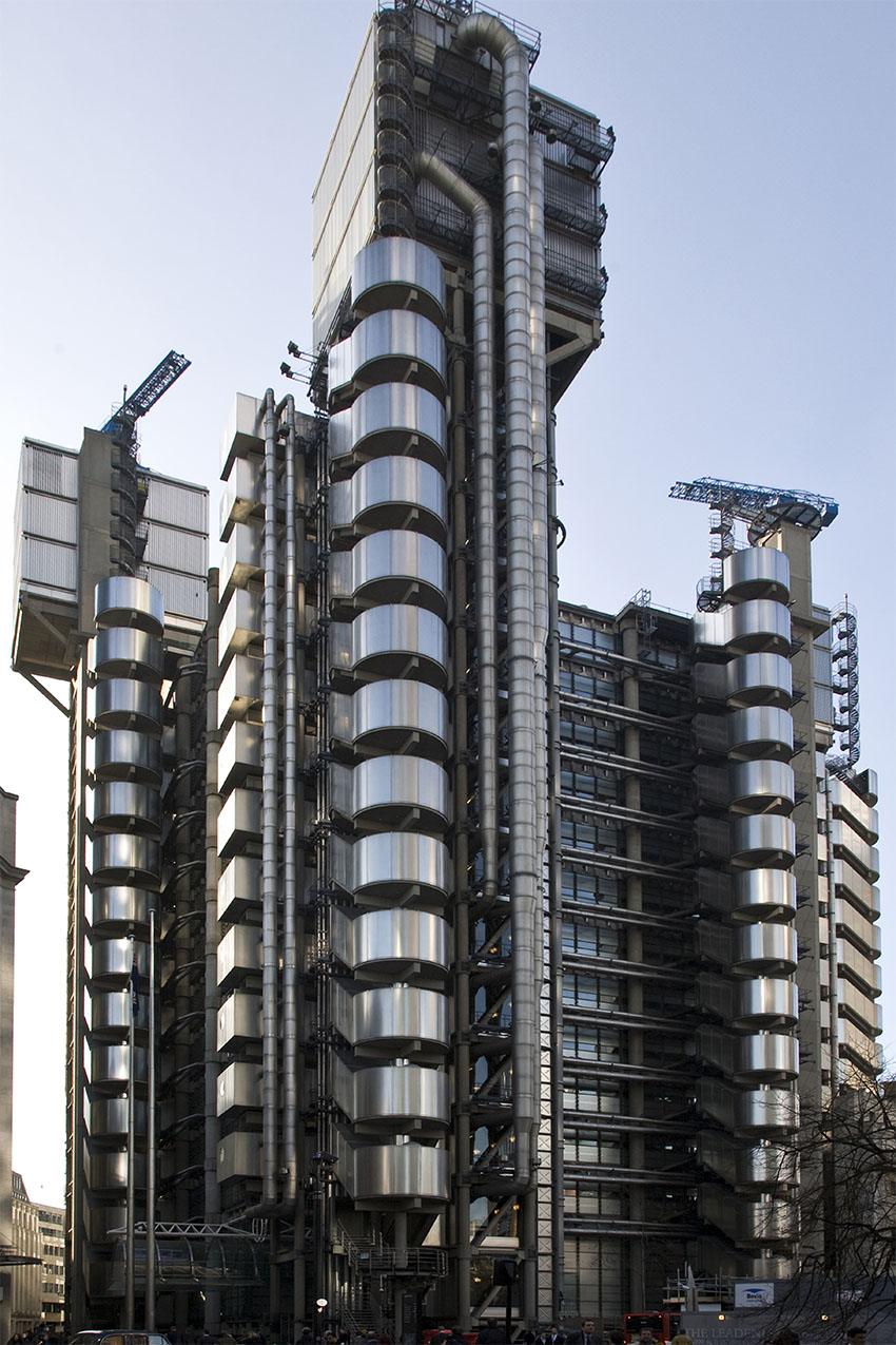 iconos del skyline de Londres: edificio Lloyd´s